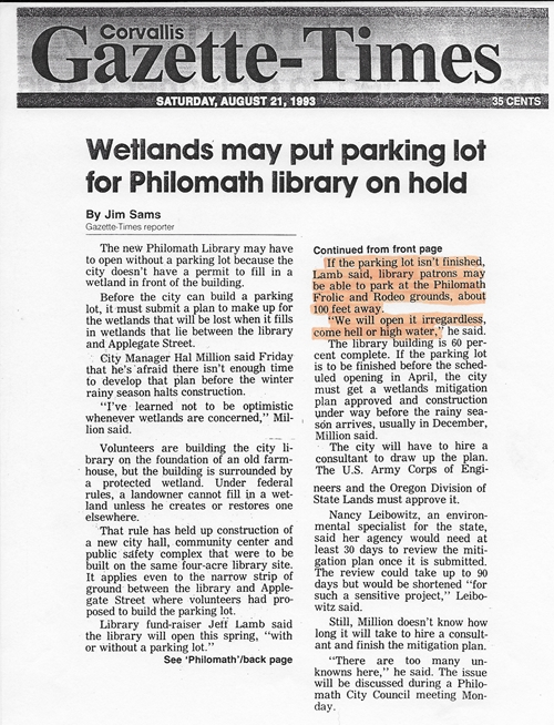 8-21-93_G-T_Wetlands_may_put_parking_lot_for_Philomath_libray_on_hold_500x654.jpg